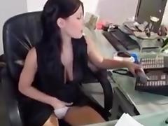 Horny receptionist fucked hard
