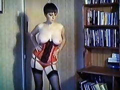 Peaches - vintage big tits dance strip stockings basque