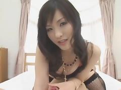 Exotic Japanese model Nao Ayukawa in Horny Doggy Style, Stockings JAV movie