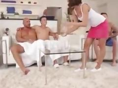 Bisexual, Bisexual, Ffm, Group, Masturbation, Orgy