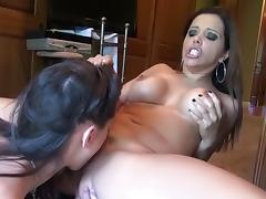 Crazy pornstars Francesca Le and Georgia Jones in hottest brunette, cunnilingus porn movie