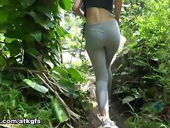 Demi Lopez in You love staring at her legendary ass while you climb the the trails - ATKGirlfriends