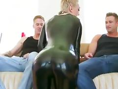 Anal and dp for a shorthaired latex lady