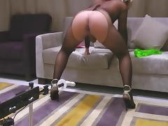 TRANSVESTITE GOES CRAZY SEX MACHINE - sissymartina