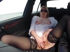 I was wanking in car