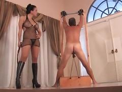 Experienced mistress whipping