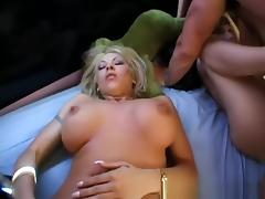Horny pornstars Candi Apple and Christgen Wolf in hottest group sex, blonde sex clip