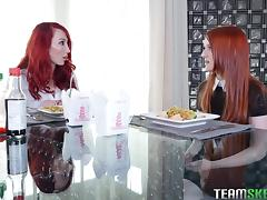 Kendra James and Krystal Orchid are redhead lesbians ready for action
