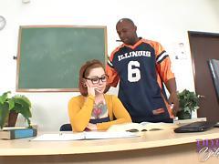 Big Cock, Big Cock, College, Couple, Glasses, Interracial