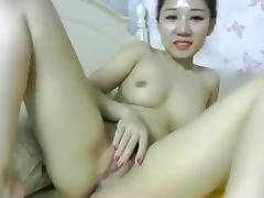 Asian, Asian, Bed, Cute, Masturbation, Small Tits