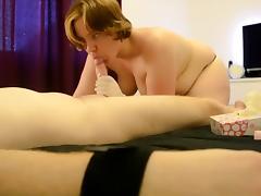 Scottish home femdom milking handjob - Stacy Sins
