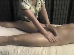Woman Massages Penis