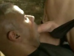 Big black guy fucked in ass by tranny