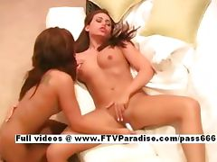 Risi and Renna fun stunning lesbian teenages drilling pussy