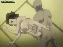Asian hentai courtesan penetrated