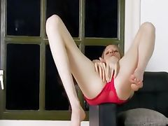 Dirty strip and angular pussy opening porn video