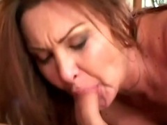 a hot mature brunette sucking porn video