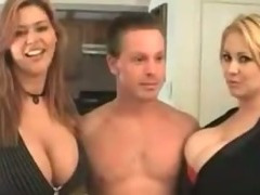 Two Mature Babes With Big Boobs Pleasured On One Guy