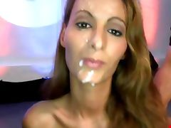 Bukkake fetish slut fuck suck and facial