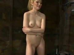 Blonde fucks machine and cums and then rides Sybian