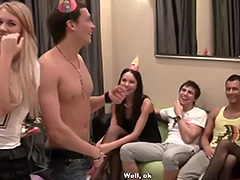 Hardcore anal fuck party for a birthday girl