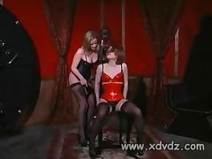 Madison Young Ties Her Girlfriend Anna Mills To A Chair And Plays With Clamps On Her Nipples