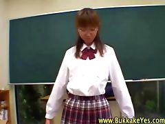 Bukkake loving asian schoolgirl hottie