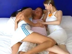 One bed for three of us penetrating hard porn video