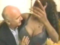 Big Titty Ghetto Black Afro Hoe Pussy With Old Guy