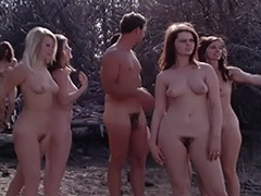 Vintage, Classic, Group, Nudist, Outdoor, Teen