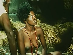 Topless African Girl Doing a Tribal Dance 1970 porn video