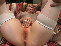 Hot MMF Group Hardcore Action to Exploit a Redhead Hairy Pussy Girl with a Cherry Poppins Name porn video