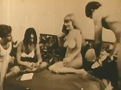 Teen Swingers Play Strip Poker and Fuck 1960