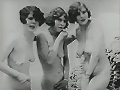 Three Naked Girls and Gloryhole in Beach Cabin 1930 porn video