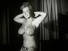 Chubby Bombshell Doing Naughty Moves 1950