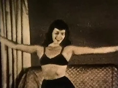 Gorgeous Girl Dancing and Stripping 1950