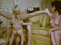 Lesbian Babes Love to Taste Each Other 1960 porn video