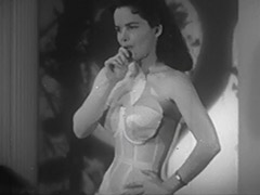 Mrs Blue Undressing and Posing 1950 porn video