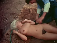 Beautiful Nude Blonde Hosed Down and Fucked 1970 porn video