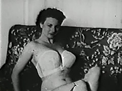 Gentle Girl Undressing and Posing 1950 porn video