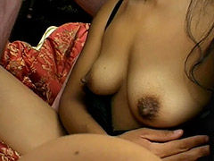 Amateur Brunette with Big Nipples and Hairy Cunt is Fucked and Her Pussy Covered with Semen porn video