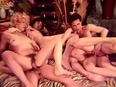 1960, Blonde, Brunette, Classic, Cumshot, Fetish