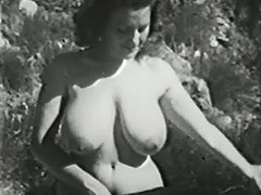 Clara Enjoys Her Big Boobs Outdoors 1950 porn video