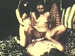 Hairy Threesome with Lots of Fucking 1970 porn video