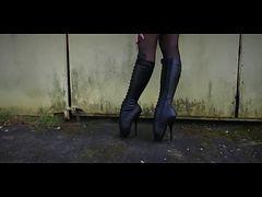 Beautiful Ballet Heel Boots