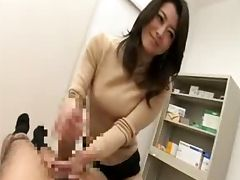 Japanese handjob and blowjob