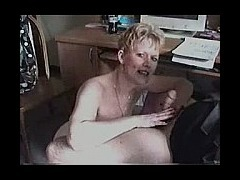 Blonde wife sucks cock mature blonde wife goes after her husband in the home office sucking and stro