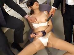 Big tittied Reon Otowa gets fucked hard by two guys in the office