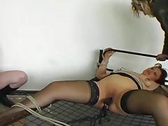 Hooters, Bondage, Boobs, Bound, Extreme, Stockings