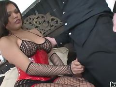 Carmen Moore the sexy brunette transsexual getting ass fucked